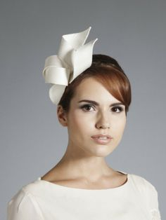 Gina Foster Millinery - Simple and elegant Bridal headpiece