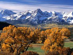 Autumn Colors, Sneffels Range, Colorado -