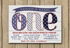 Hey, I found this really awesome Etsy listing at http://www.etsy.com/listing/165502100/first-1st-birthday-invite-baby-boy