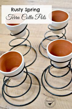 Spring Planters and a Dumpster Fail! Vintage chair springs into adorable little planters for Spring Bed Spring Crafts, Spring Projects, Spring Art, Diy Projects, Old Bed Springs, Mattress Springs, Box Springs, Antique Chairs, Vintage Chairs