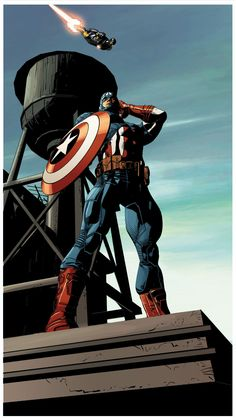 Captain America by Mike Deodato Jr., colors by Frank Martin