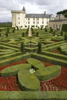 chateaux of the loire valley | Gardens at Chateau de Villandry, Loire Valley, France.