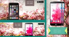 Join the spring blossom enthusiasm and decorate your app marketing graphics with some spring spirit. Grab this comprehensive spring templates pack. The pack includes Google Play featured image / screen shots, social covers, Twitter app promotion cards and Facebook install ads. #MobileAppMarketing #MobileAppDevelopers