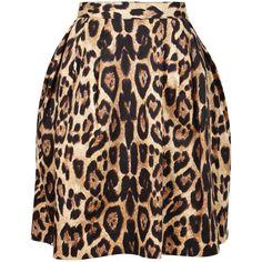 Pink Tartan Leopard Tiffany Full Skirt ($220) ❤ liked on Polyvore
