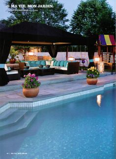 Dream pool in a beautiful backyard