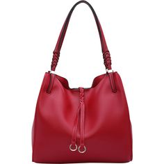 MKF Collection by Mia K. Farrow Brenda Hobo - Red - Hobos (945 UAH) ❤ liked on Polyvore featuring bags, handbags, shoulder bags, red, red shoulder bag, hobo purses, red purse, zip pouch and pocket pouch