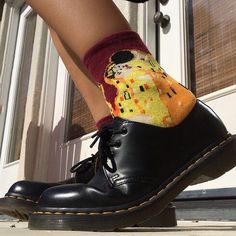 """977 Likes, 3 Comments - BOOGZEL APPAREL (@boogzel_apparel) on Instagram: """"Is this your aesthetic? 🌼😘 The Kiss Klimt Socks + Munich Shoes 👌🏻 Direct link in our story ▪️▪️▪️…"""""""