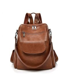 b61382590fad Backpack Purse Pu Leather Handbag Cute Tote Girl Large Capacity Satchel -  Style2-brown - CL18I06629S