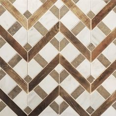 Petite Alliance - wood and stone mosaic - Tabarka Studio Floor Patterns, Tile Patterns, Textures Patterns, Wood Tile Pattern, Henna Patterns, Design Patterns, Pattern Ideas, Floor Design, Tile Design
