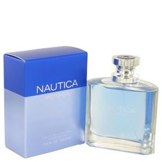 Nautica Voyage By Nautica Eau De Toilette Spray 3.4 Oz - The scent opens with cool green leaf and fresh cut apple. The heart blends drenched mimosa water lotus and deep aquatic elements with the sailcloth accord. The woody drydown is a mix of moss cedarwood musk and amber. Designed For Men