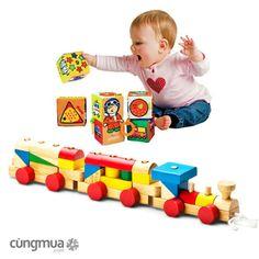 Cungmua - Tàu hỏa lắp ráp là một trong những dòng đồ chơi trí tuệ của Edugames giúp bé rèn luyện tính kiên trì, óc sáng tạo cùng với sự vận động của tay chân sẽ giúp bé phát triển toàn diện về thể chất. Chỉ 189.000đ cho trị giá 265.000đ.