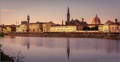 Firenze - Lungarno della Zecca Vecchia al tramonto