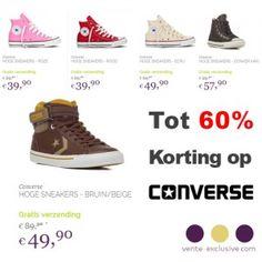 Actie van de dag: Alleen vandaag: Tot 60% korting op Converse schoenen...  #Converse #Allstars #Kopen #Korting #Actie #Actievandedag #KortingsWijzer #Aanbieding