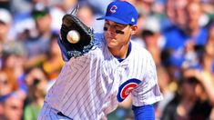 Even Anthony Rizzo wasn't sure he had gotten the tag....