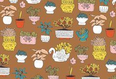 plants  Julia Rothman fabric