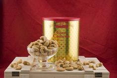 This 3.75 lb can of Giant Whole Cashews is one of our best sellers! These delicious #cashews are certified Kosher Pareve. If interested, a personalized greeting card can be included in your purchase! Source: http://www.superiornutstore.com/giantcashews.html#