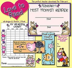 Get our 'Love to Read' download FREE with any Valentine download purchase through 1/15/14!! This set includes 3 bookmark Valentines, an award certificate for the best reader, & a reading chart! http://www.djinkers.com/dj_valentines/