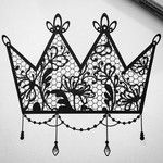 #crown #lace #lacetattoo #tattooart #tattoo #jeweltattoo #sketch #crowntattoo #girl #inkedgirl #tatooedgirl #drawing #pencil #art #jewel #sacrebleurouen