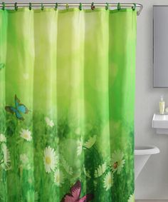 Take a look at this Green Butterfly Meadow Shower Curtain on zulily today!