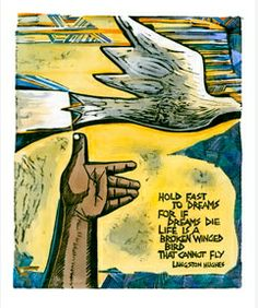 Homage by Peter Clarke  ... a bird held in the hand is the carrier of our hopes and dreams, all we need do is open up and let go so that it can fly...