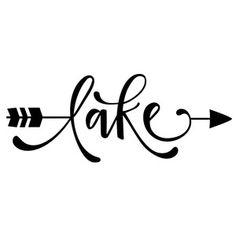 Silhouette Design Store - View Design #202835: word arrow - lake