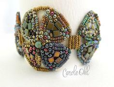 Tristan Cuff Bracelet Pattern by Carole Ohl by openseed on Etsy