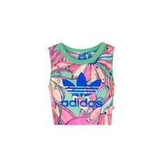 Cropped Tank by Adidas Originals ($38) ❤ liked on Polyvore featuring tops, pink, crop tank, sports crop top, sports tank top, jersey top and pink jersey