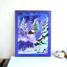 picture silk panels batik Winter's Tale natural silk от batikelena
