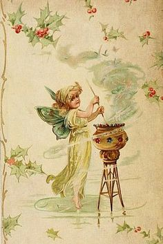 This is the first fairy images. In this vintage book cover illustration, a pretty Yule fairy conjures up some Christmas magic. Christmas Fairy, Christmas Images, Merry Christmas, Woodland Creatures, Magical Creatures, Fairy Land, Fairy Tales, Angel Clouds, Traditional Witchcraft