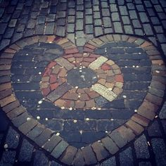 In Edinburgh, a friend photographed this lovely brick heart.