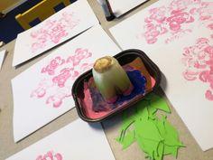 Printing roses for preschoolers