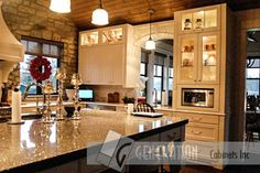 French Country Estates Custom Kitchen Cabinets: Generation Cabinets // Design: Collaboration with Trish Becher Interior Design