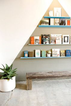 reading nook book shelf