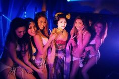 With CyberJapan Dancers at the WORLD Club in Kyoto - Giwon Satsuki