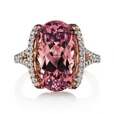 Omi Prive: Pink Tourmaline and Diamond Ring, Style RC1450-TOOV