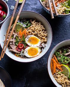 Slow cooker ramen Here's some comfort food that's anything but complex. We've partnered with Tieghan Gerard, founder of Half Baked Harvest, to create a slow cooker ramen. Slow Cooker Ramen Recipe, Slow Cooker Recipes, Crockpot Recipes, Cooking Recipes, Slow Cooking, Ramen Recipes, Asian Recipes, Ethnic Recipes, Recipies