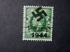 Local-England-WW-II-Occupation-overprint-Guernsey-used