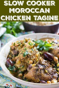Transport yourself to North Africa with this super easy Slow Cooker Moroccan Chicken Tagine. Perfect for busy mornings, it freezes brilliantly, so double the recipe and stock the freezer. Healthy Slow Cooker, Slow Cooker Recipes, Crockpot Recipes, Chicken Recipes, Healthy Recipes, Skinny Recipes, Free Recipes, Duck Recipes, Healthy Soups