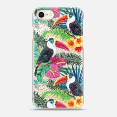 Casetify iPhone 8 Case - Watercolor Tropical Floral Toucans by Ruby Ridge Studios Floral Iphone Case, Iphone 8 Plus, Iphone Case Covers, Latest Iphone, 6s Plus Case, Tech Accessories, Tropical, Watercolor, Apple Iphone