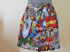 Marvel Characters Flirty Geeky Skirt by AquamarCouture on Etsy