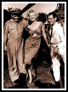 August 3rd 1952 Marilyn Monroe at Ray Anthony's party.