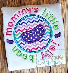 Mommy's Little Jelly Bean Applique - 4 Sizes! | What's New | Machine Embroidery Designs | SWAKembroidery.com Creative Appliques