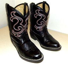 Broken In Black Cowboy boots  Vegan Friendly