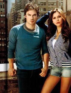 Os astros de The Vampire Diaries posaram para a revista antes dos rumores da separação!