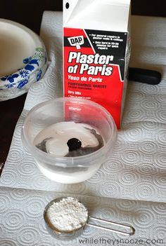 Great DIY chalk paint recipe : 2 cups of paint 1/3 cup of plaster of paris 2 TBSP water