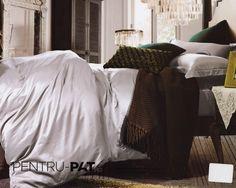 Lenjerie de pat 100% bambus Pucioasa gri Bean Bag Chair, Comforters, Blanket, Bed, Furniture, Home Decor, Homemade Home Decor, Stream Bed, Home Furnishings