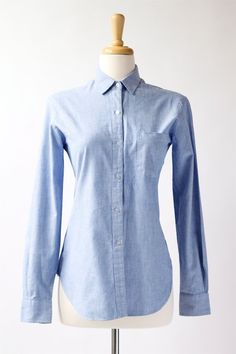 NEW! 1960's vintage Charlotte Ford chambray shirt