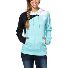 Coming in a Mint, White and Black colorway, the Aluka hydro tech fleece jacket from Volcom girls is the perfect combination of tech and style. Built with a soft fleece interior and a durable polyester shell to keep the water out, this Volcom snow fleece will keep you comfortable and in style.