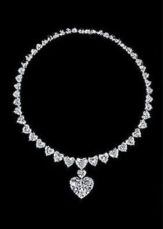 Graff Heartshape Diamond Necklace. What a perfect Valentine's Day gift!