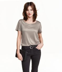 Loose fit radiant jersey top   H&M US